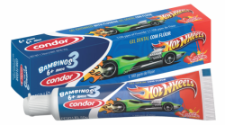 Gel dental infantil Bambinos 50g (Hot Wheels, Lilica Ripilica e Tigor T. Tigre)